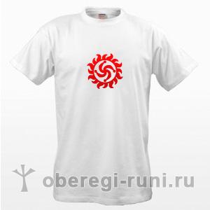 Белая футболка с символом Рода в Ярило