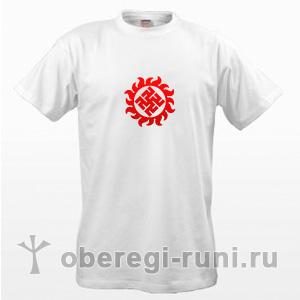 Белая футболка с оберегом Одолень-трава в Ярило