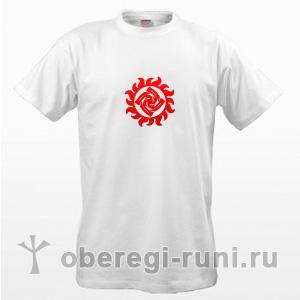 Белая футболка с оберегом Знич в Ярило