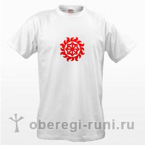 Белая футболка с оберегом Молвинец в Ярило