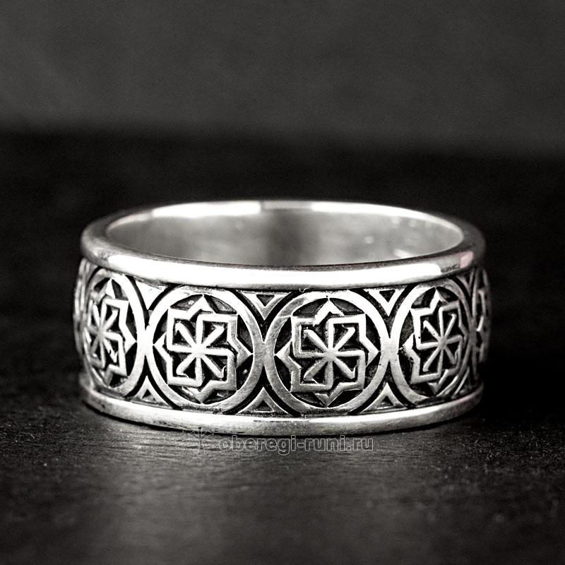 кольцо с молвинцем из серебра