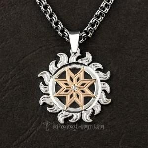 Алатырь, славянский оберег из серебра и золота