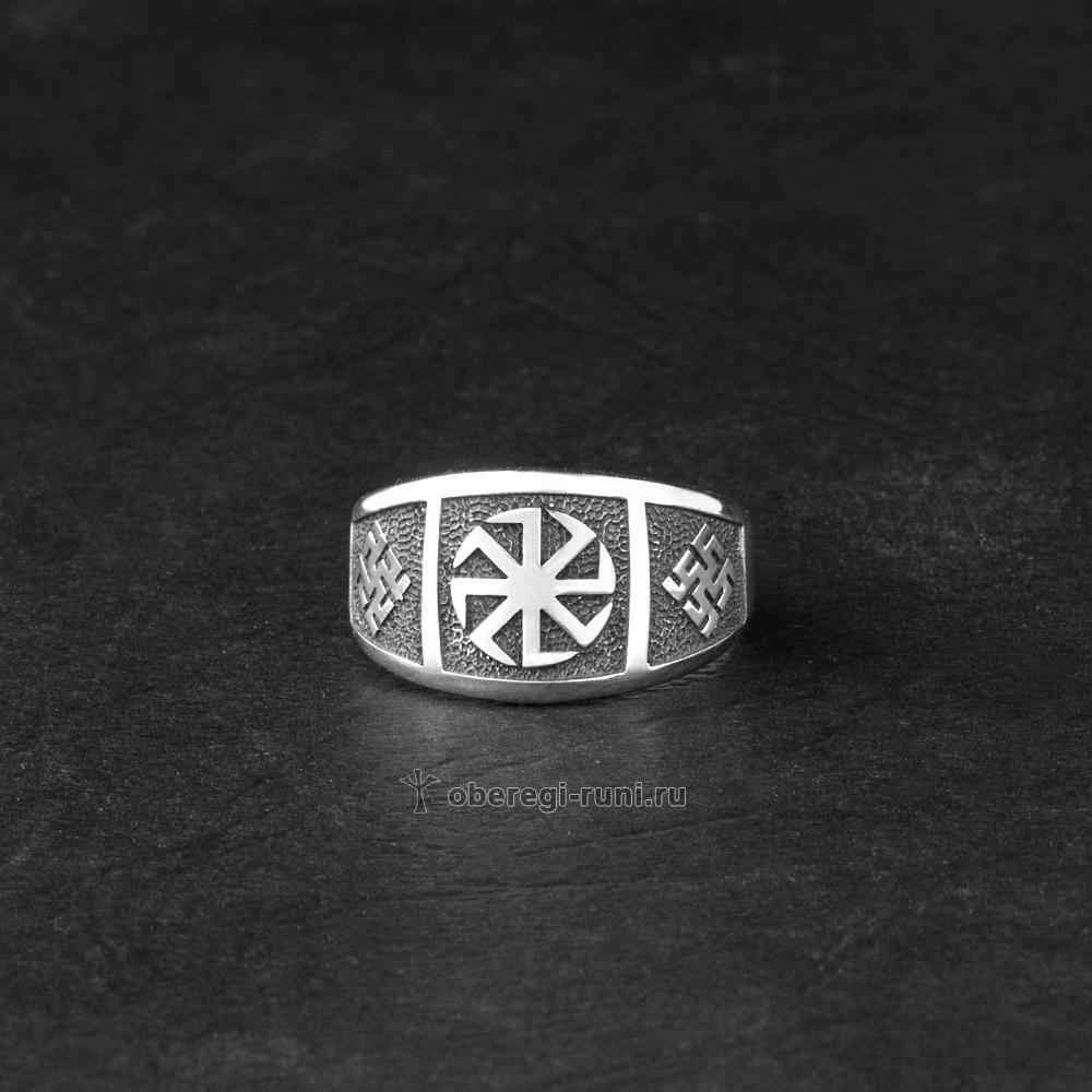 кольцо коловрат из серебра