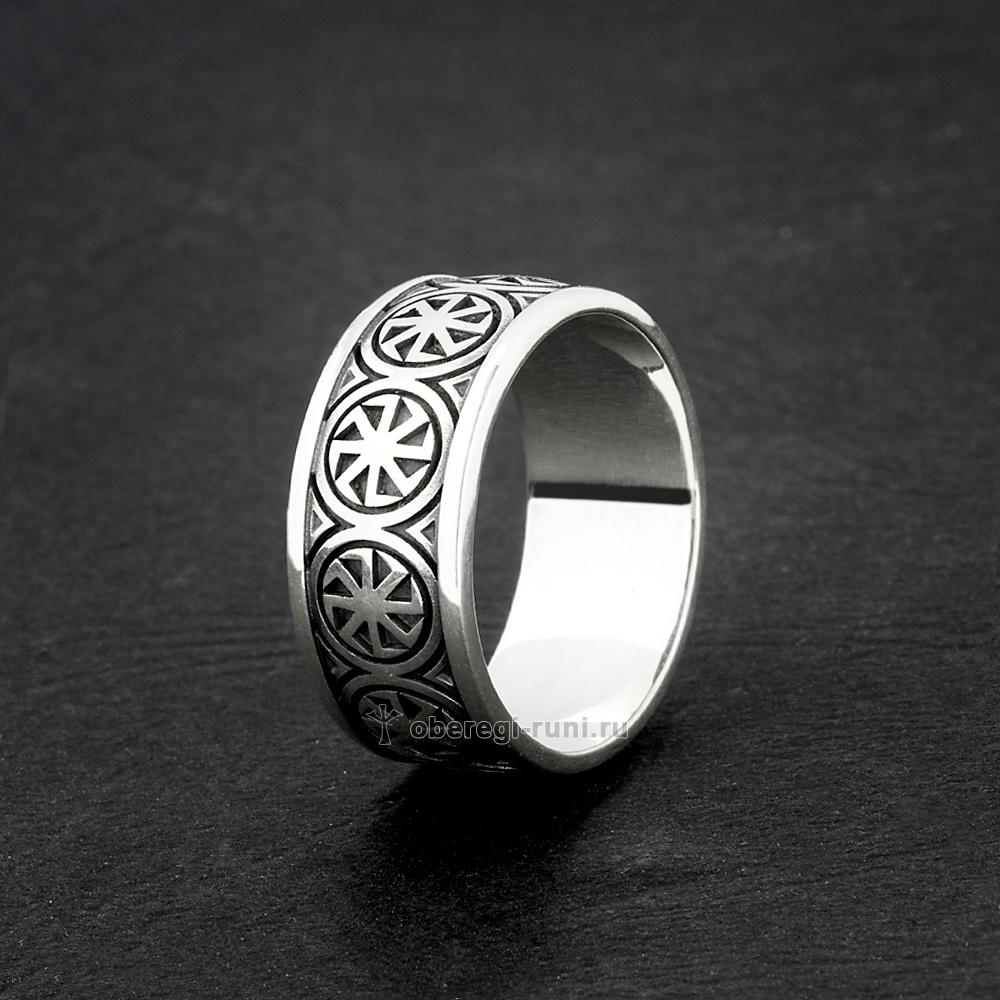 кольцо с коловратом из серебра